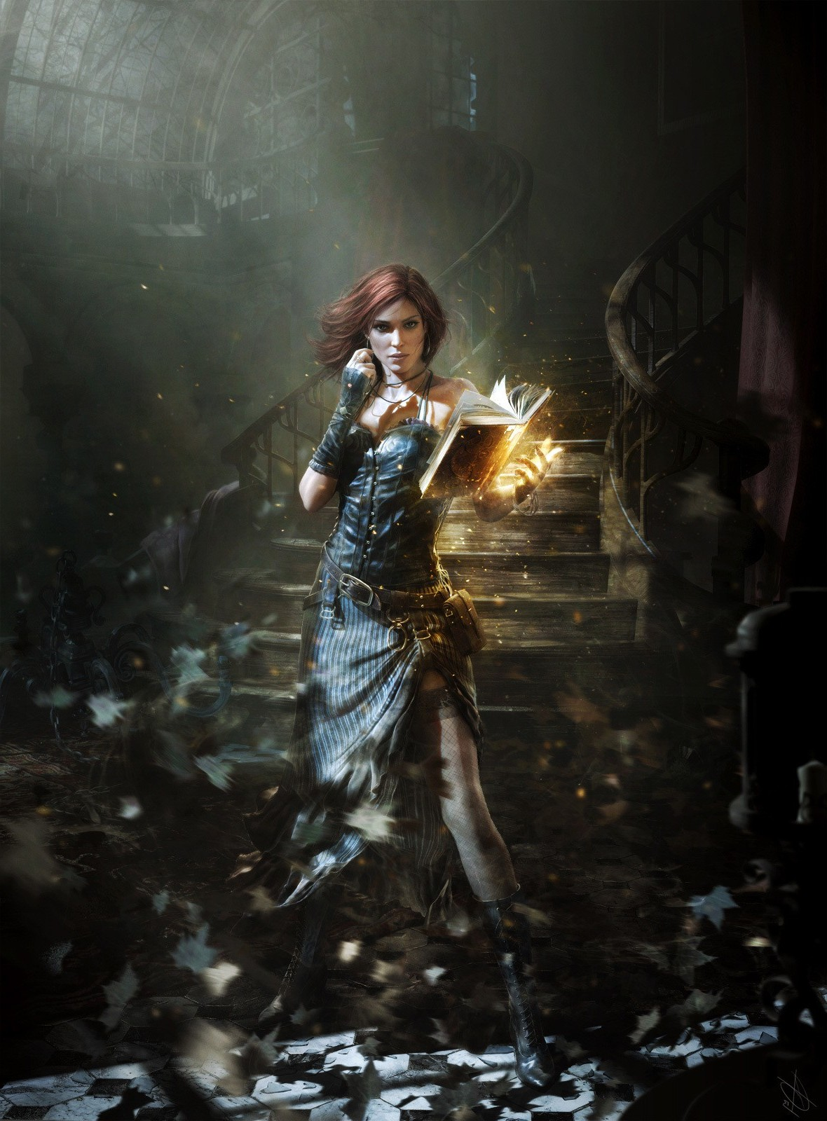 5760x1080 Wallpaper Girl Witch Video Games Wallpapers Hd Desktop And Mobile