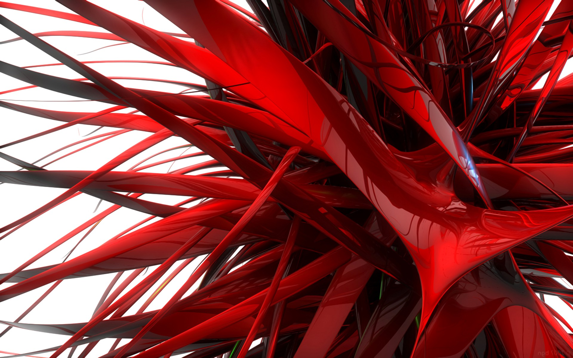 Sick Anime Wallpapers Digital Art Abstract 3d Red Render Reflection White