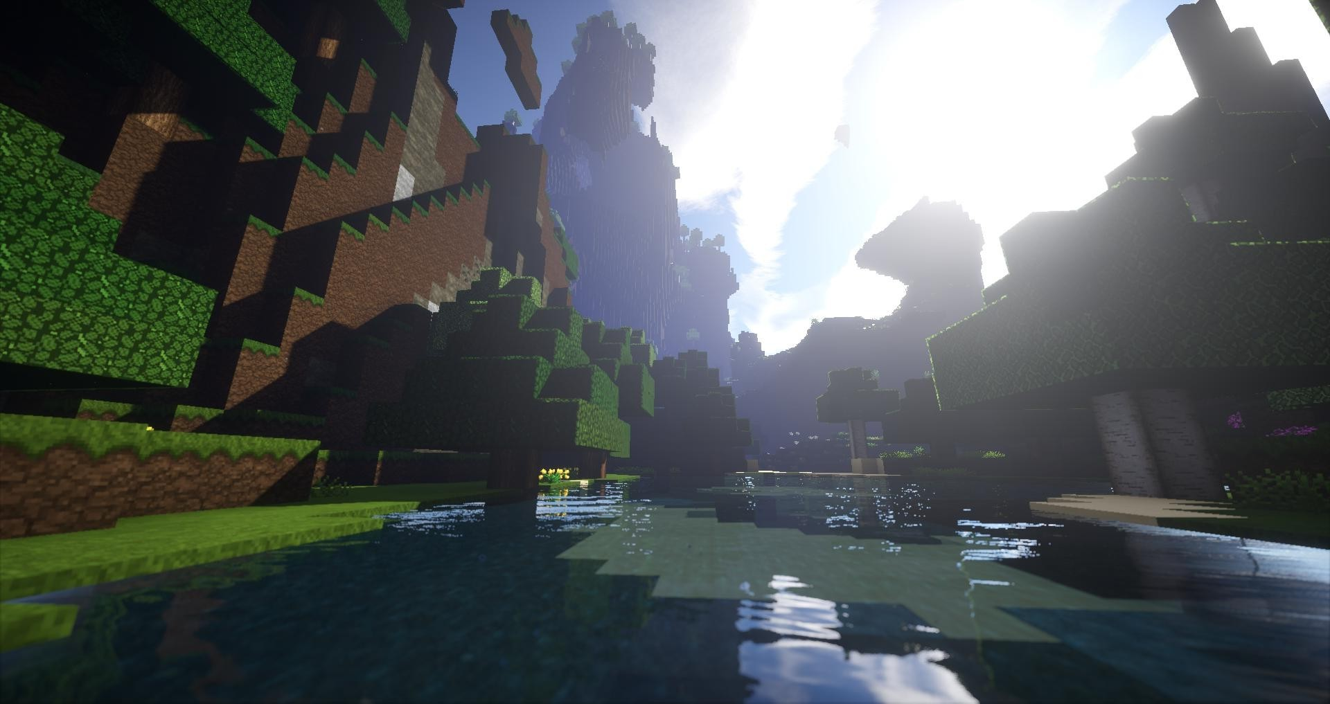 Minecraft Wallpaper Hd 1366x768 Minecraft Render Screenshots Lake Wallpapers Hd