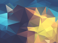 minimalism, Abstract, Low Poly, Geometry, Yellow, Blue