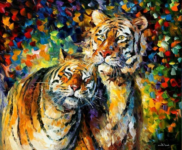 Tiger Painting Leonid Afremov Animals Colorful Wallpapers Hd Desktop And Mobile Backgrounds