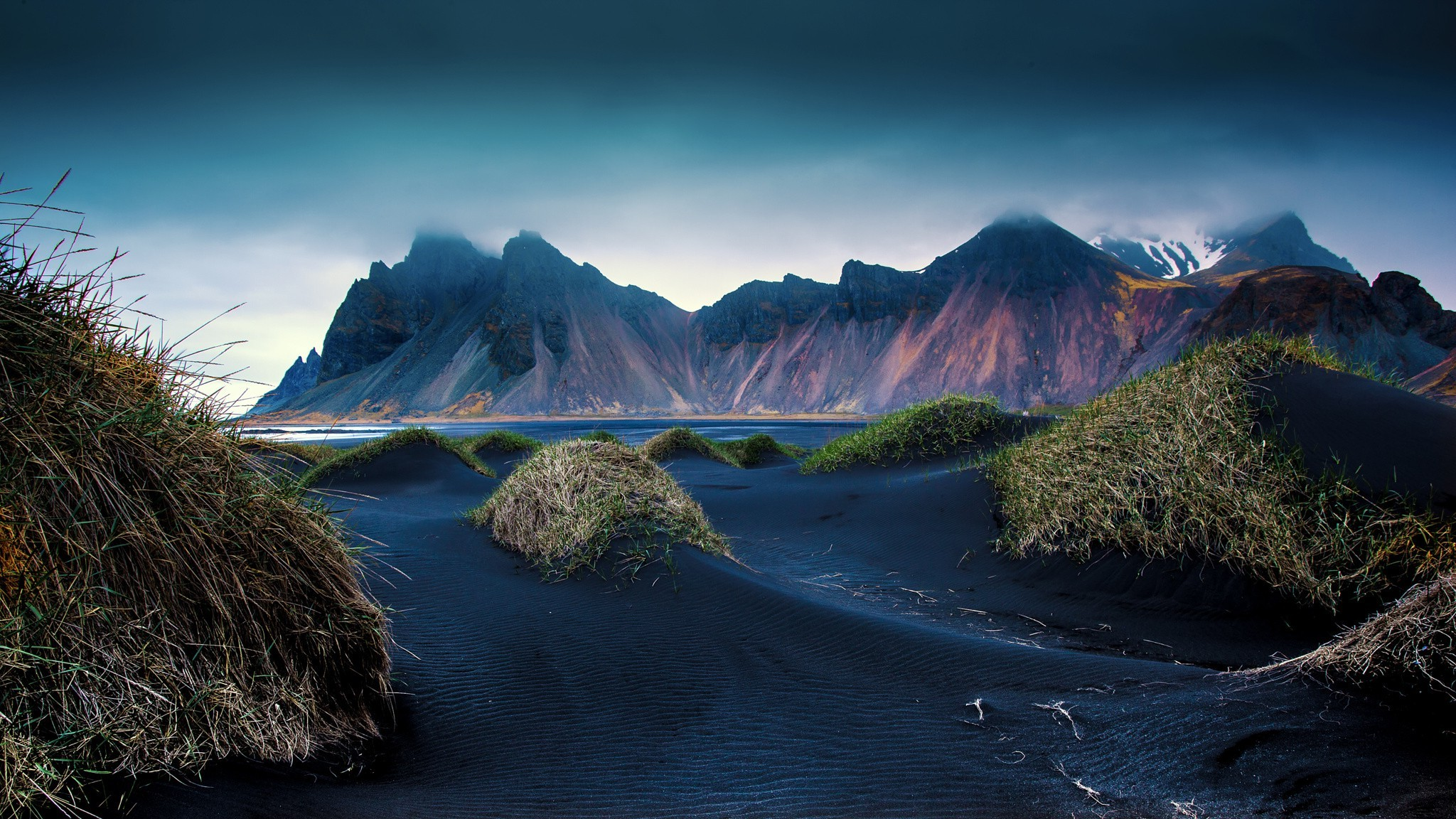 Tropical Ocean 3d Live Wallpaper Mountain Beach Black Sand Dune Iceland Cliff Grass