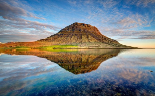Nature Landscape Reflection Clouds Iceland Wallpapers