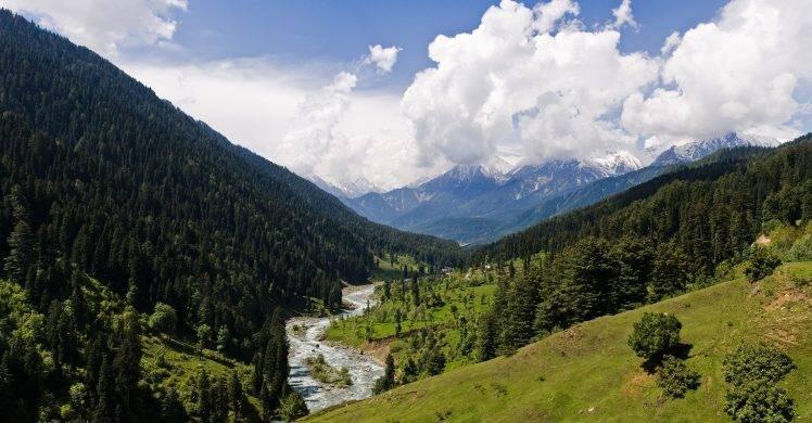 nature landscape valley kashmir