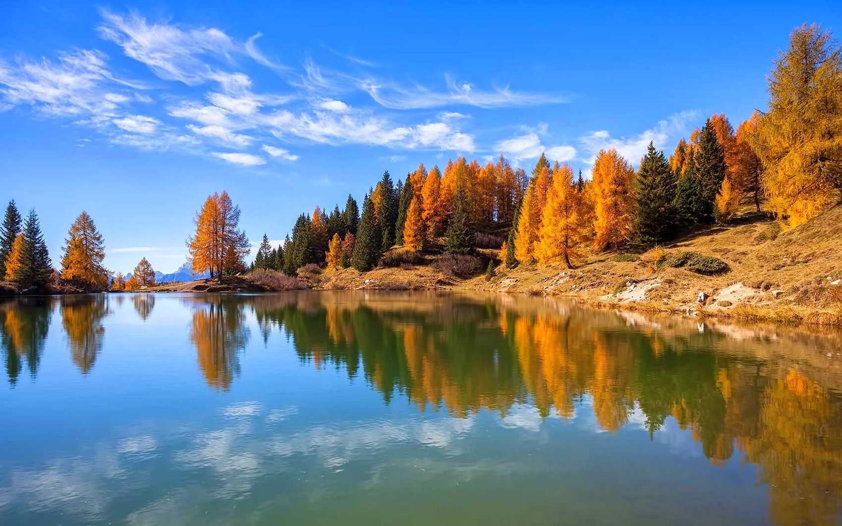 Fall Trees Background Wallpaper Nature Landscape Lake Fall Forest Italy Trees Water