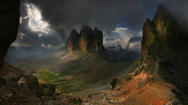 Nature Landscape Dark Mountain Sun Rays Summer Clouds Wallpapers Hd Desktop And Mobile