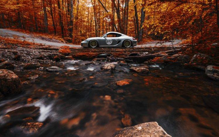 Retro Fall Computer Wallpaper Nature Car Trees Forest Fall Vehicle Leaves Long