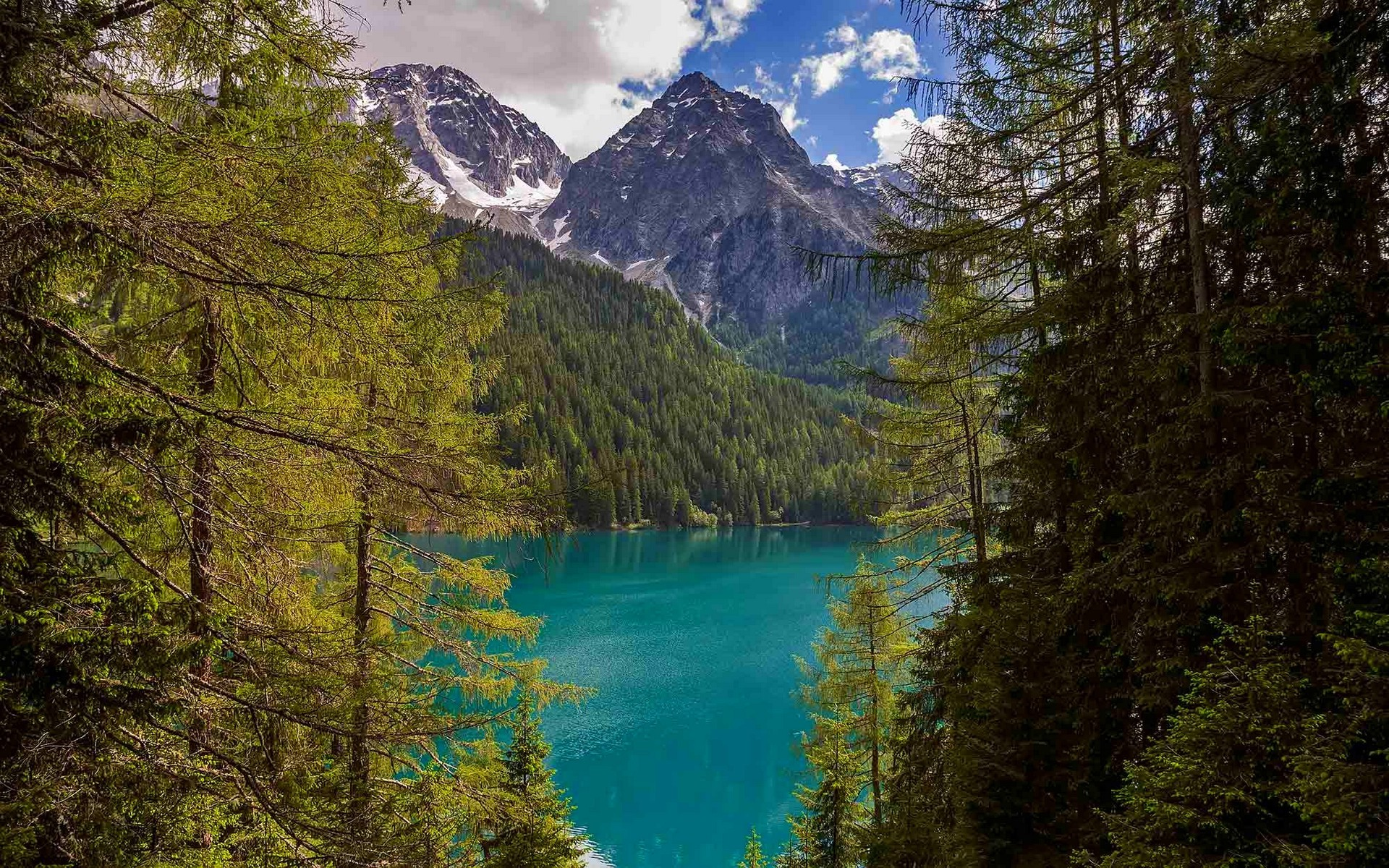 Full Screen Fall Wallpaper Landscape Nature Lake Italy Forest Mountain Clouds
