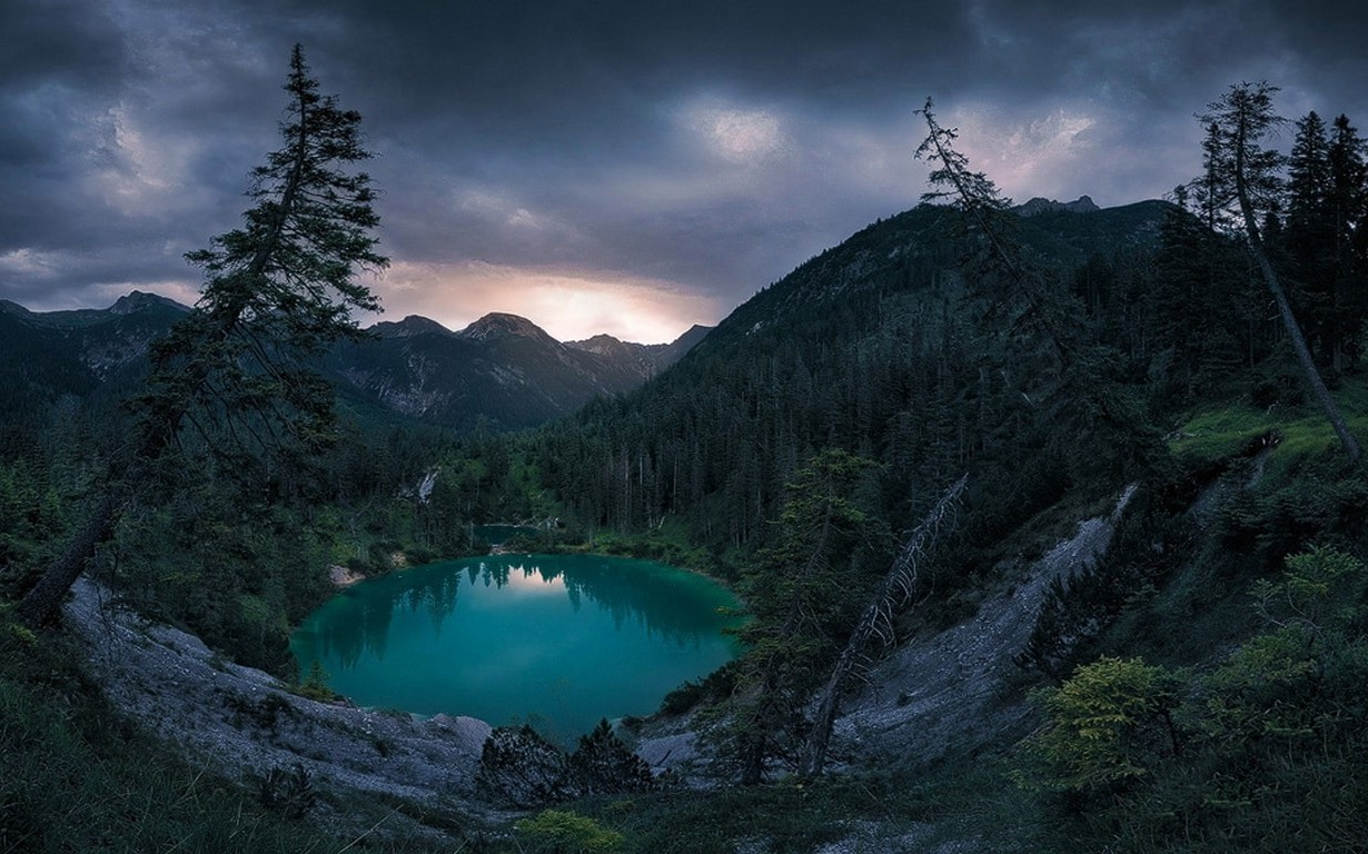 Cloudy Weather Hd Wallpapers Nature Landscape Lake Mountain Forest Clouds Sunset