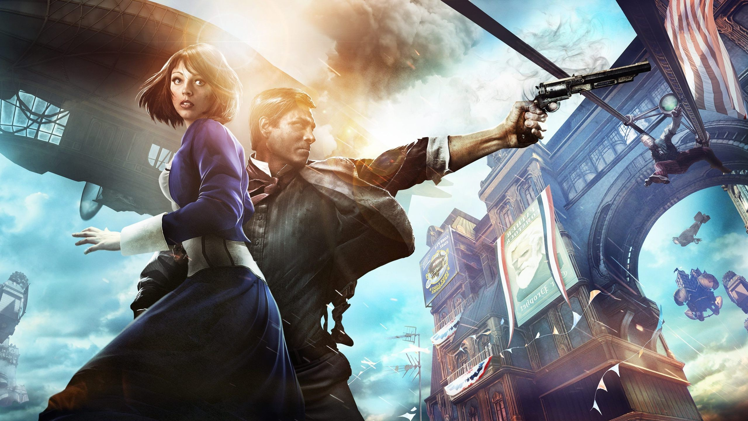 Bioshock Infinite Falling Wallpaper Hd Bioshock Bioshock Infinite Video Games Wallpapers Hd