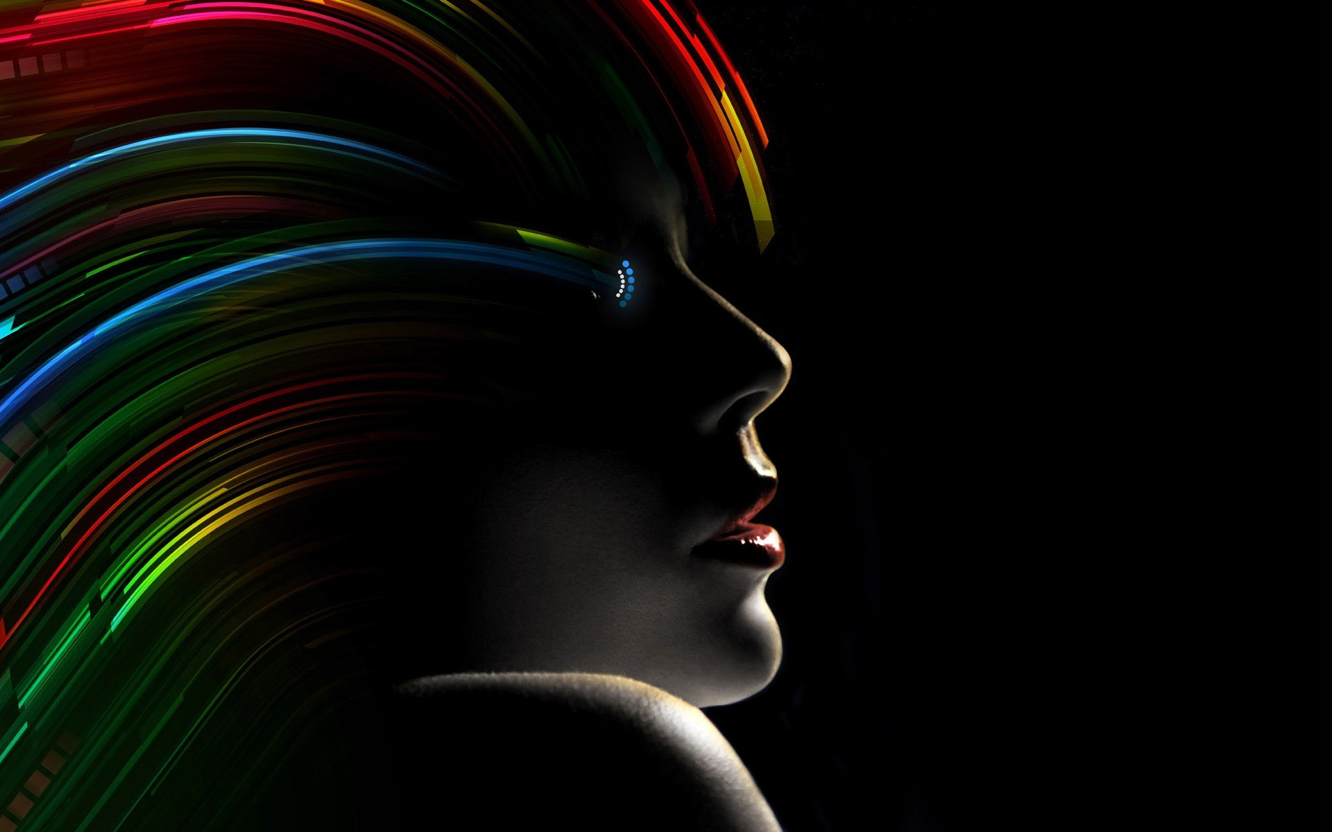 wonder woman, abstract, dark, colorful, black background, women