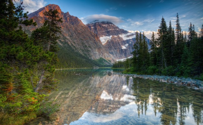 Landscape Nature Mountain Reflection River Forest