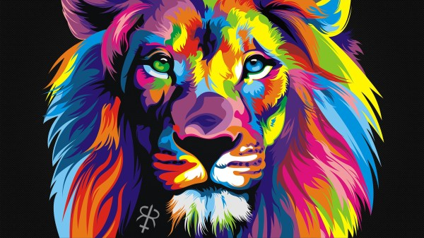 Colorful Animals Lion Wallpapers Hd Desktop And Mobile Backgrounds