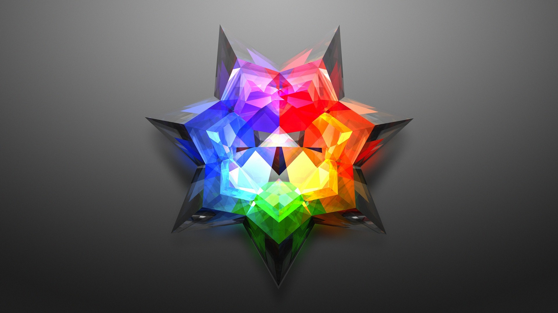 digital Art Minimalism Colorful Abstract Low Poly