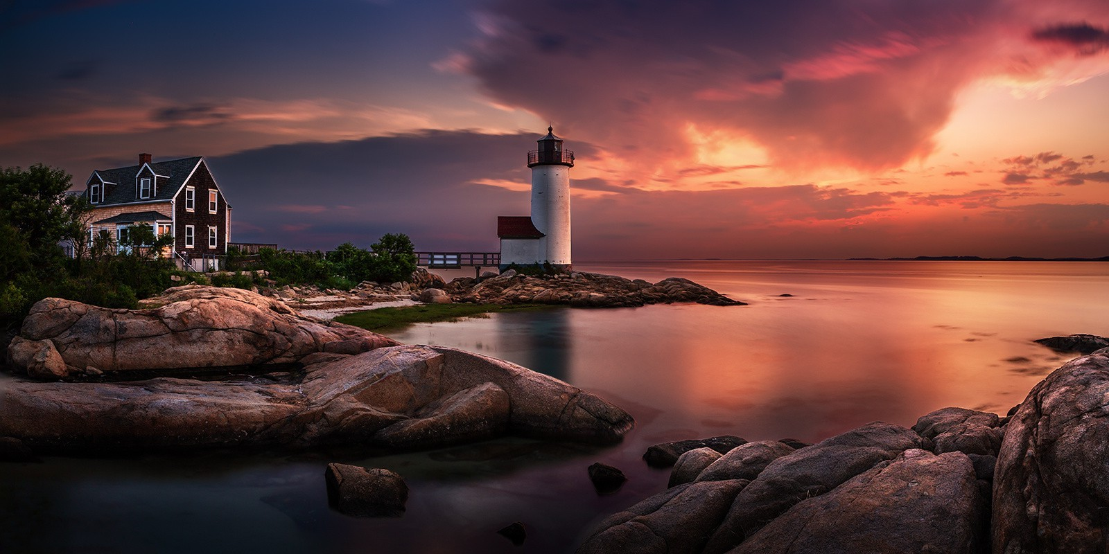 Cloudy Weather Hd Wallpapers Nature Landscape Sunset Lighthouse Massachusetts Sky