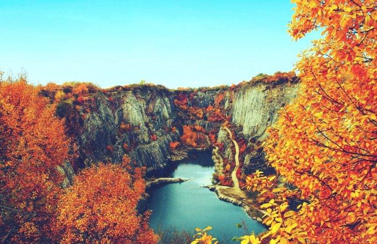 Fall In Maine Wallpaper Nature Landscape Fall Lake Canyon Trees Water