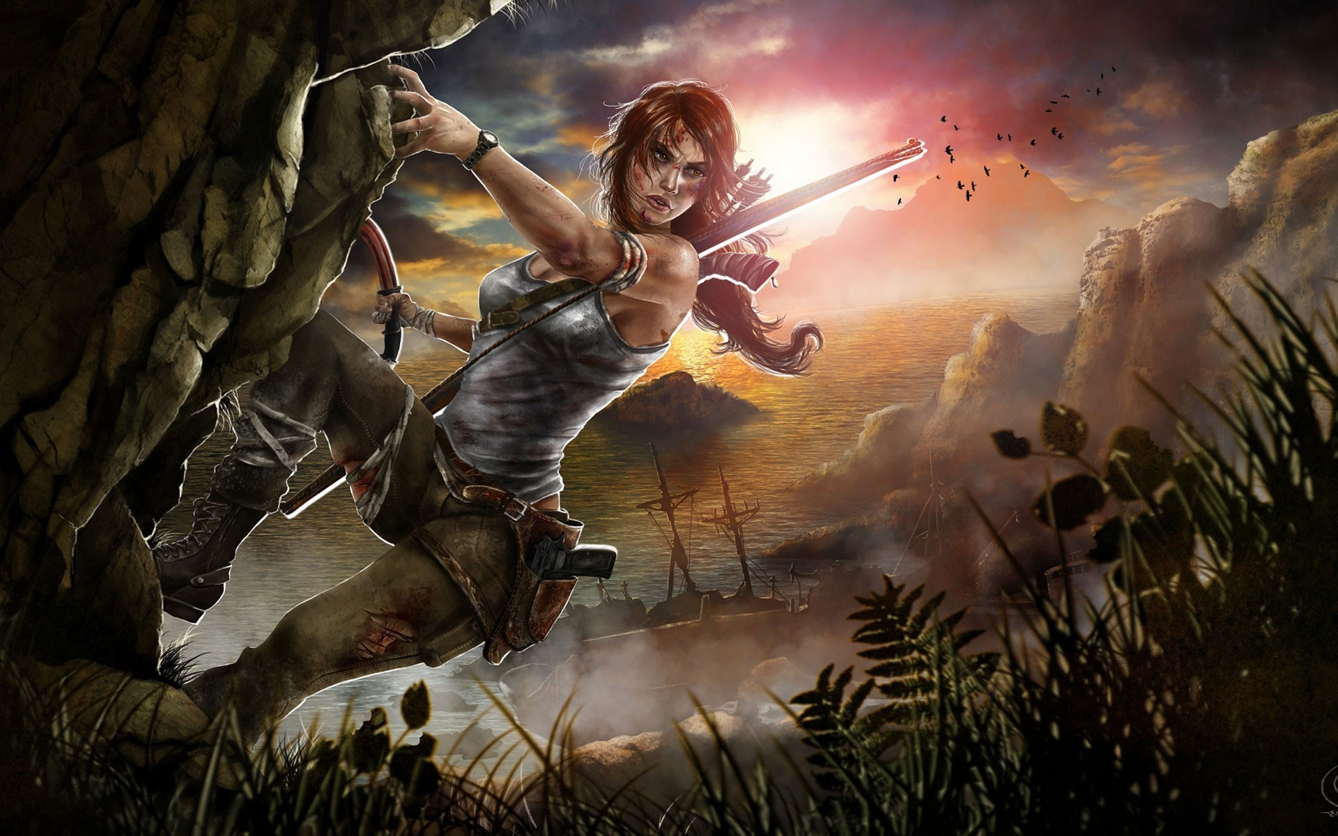 Fall Scarecrow Wallpaper Video Games Video Game Characters Video Game Girls Tomb