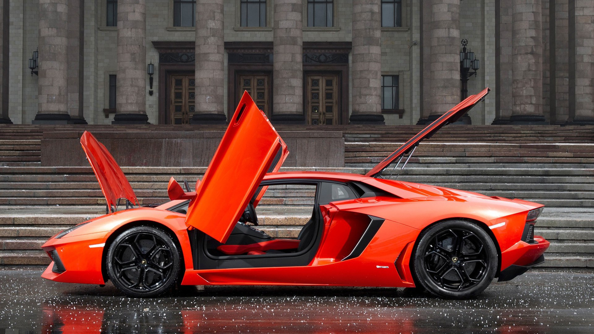 4k Wallpapers Exotic Super Sports Cars Car Lamborghini Orange Lamborghini Aventador Rain