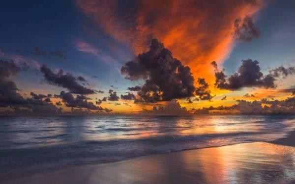 nature sunset beach maldives