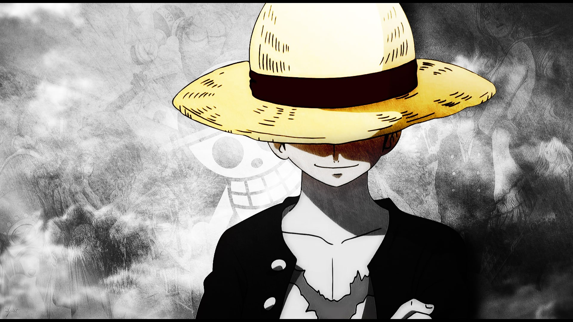 One Piece Straw Hat Monkey D Luffy Scars Straw Hat