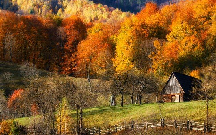 New England Fall Foliage Desktop Wallpaper Fall Barns Nature Forest Grass Hill Landscape Trees