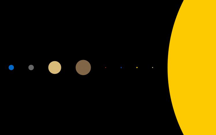 Minimalism, Planet, Solar System Wallpapers Hd Desktop