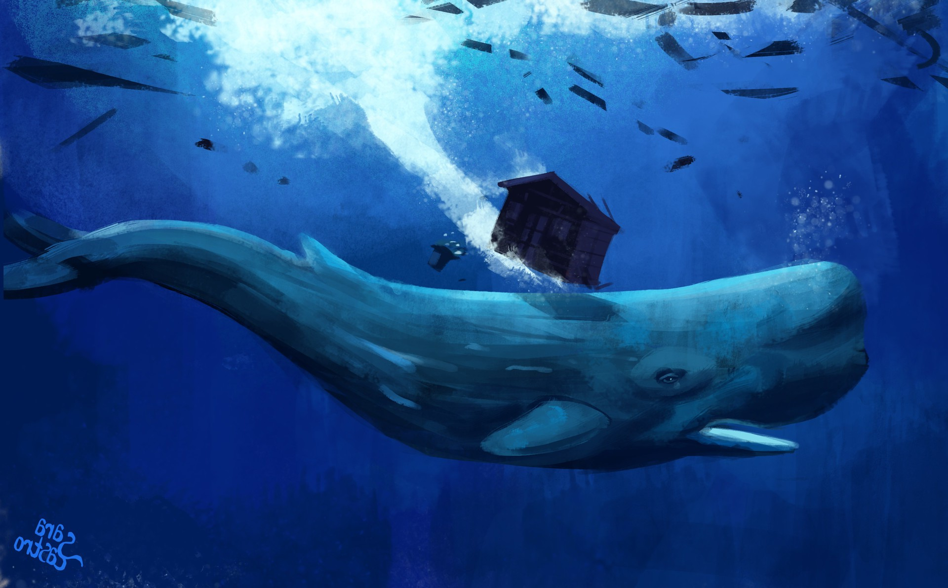 Creature 3d Movie Wallpaper Download Artwork Animals Whale Underwater Wallpapers Hd