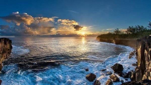 nature landscape beach sunrise
