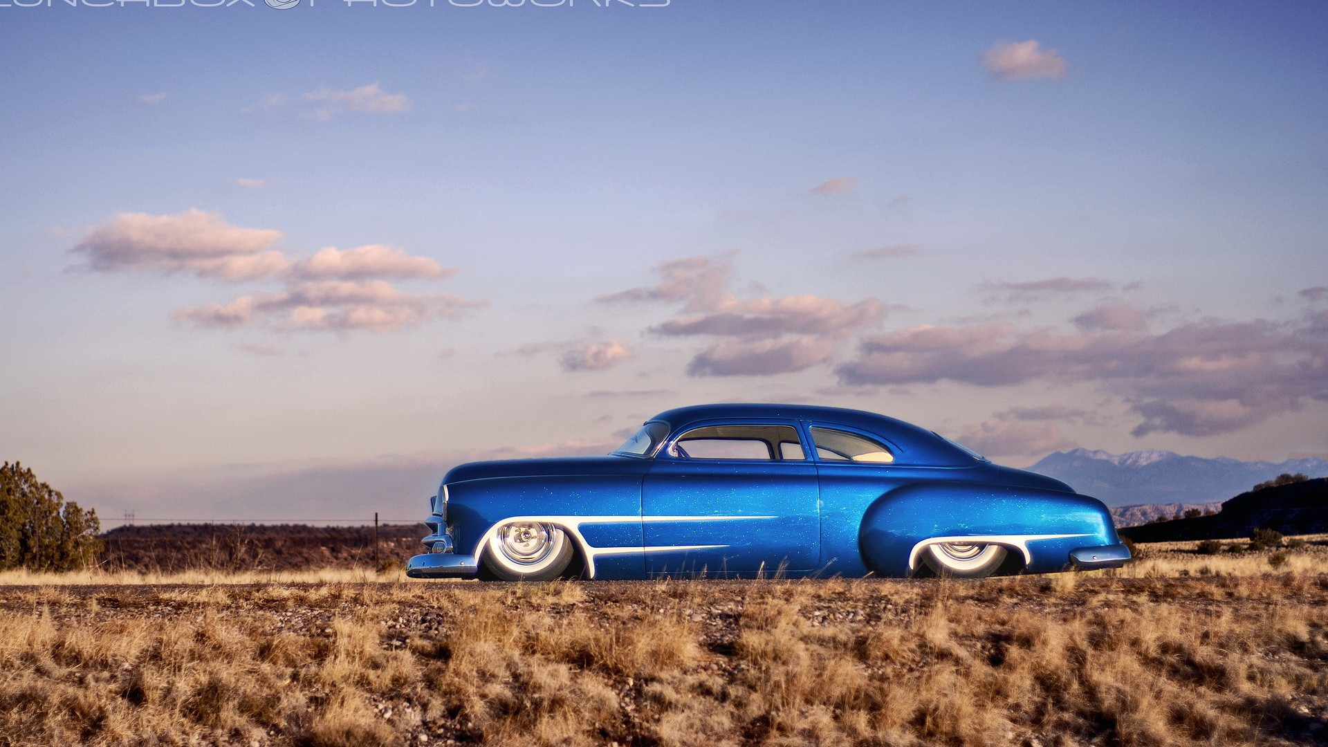 Muscle Car 3d Live Wallpaper Car Blue Cars Hot Rod Chevy Chevrolet Desert