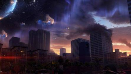 artwork Space Invaders Fantasy Art Concept Art Spaceship City Space Urban Wallpapers HD / Desktop and Mobile Backgrounds