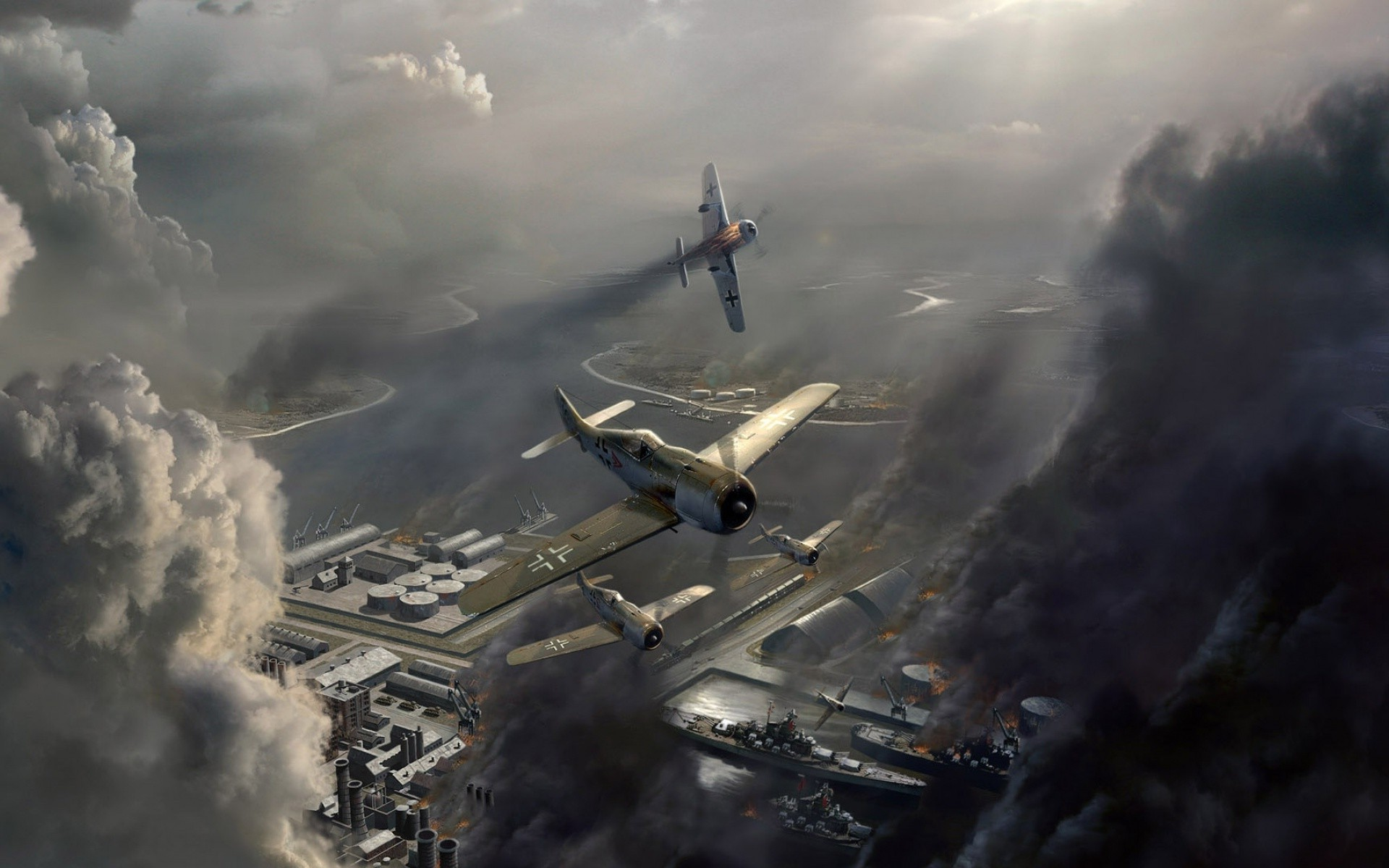 3d Call Of Duty 2 Wallpaper Airplane Video Games Fw 190 Wallpapers Hd Desktop And