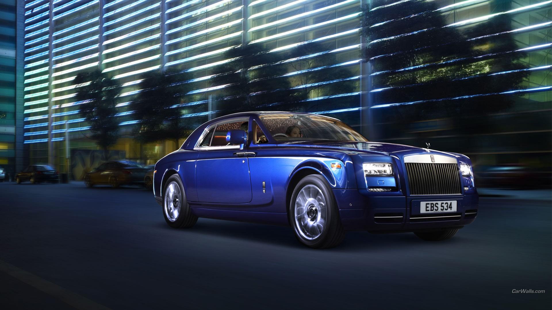 Roll Royce Car Hd Wallpaper Car Rolls Royce Phantom Blue Cars Wallpapers Hd