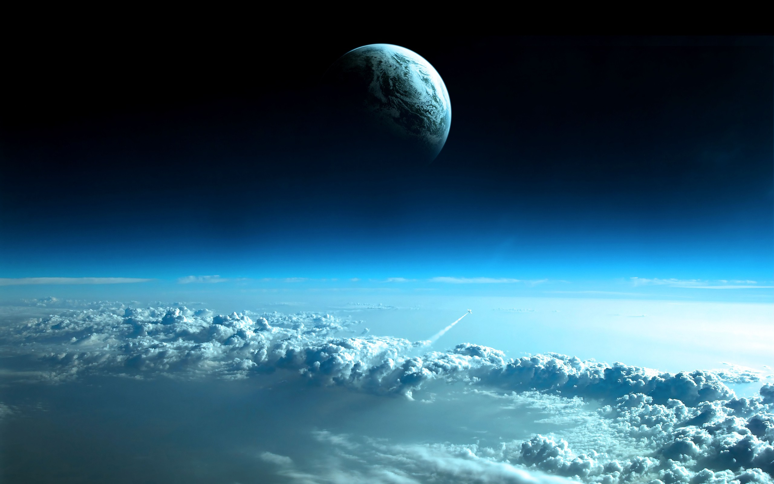 space Earth Clouds Wallpapers HD  Desktop and Mobile