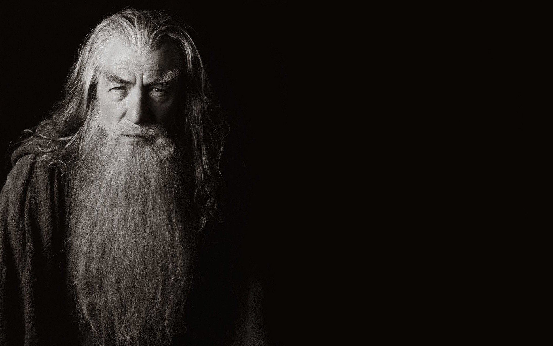 Gandalfs Fall Wallpaper Movies Ian Mckellen Sepia Gandalf The Lord Of The