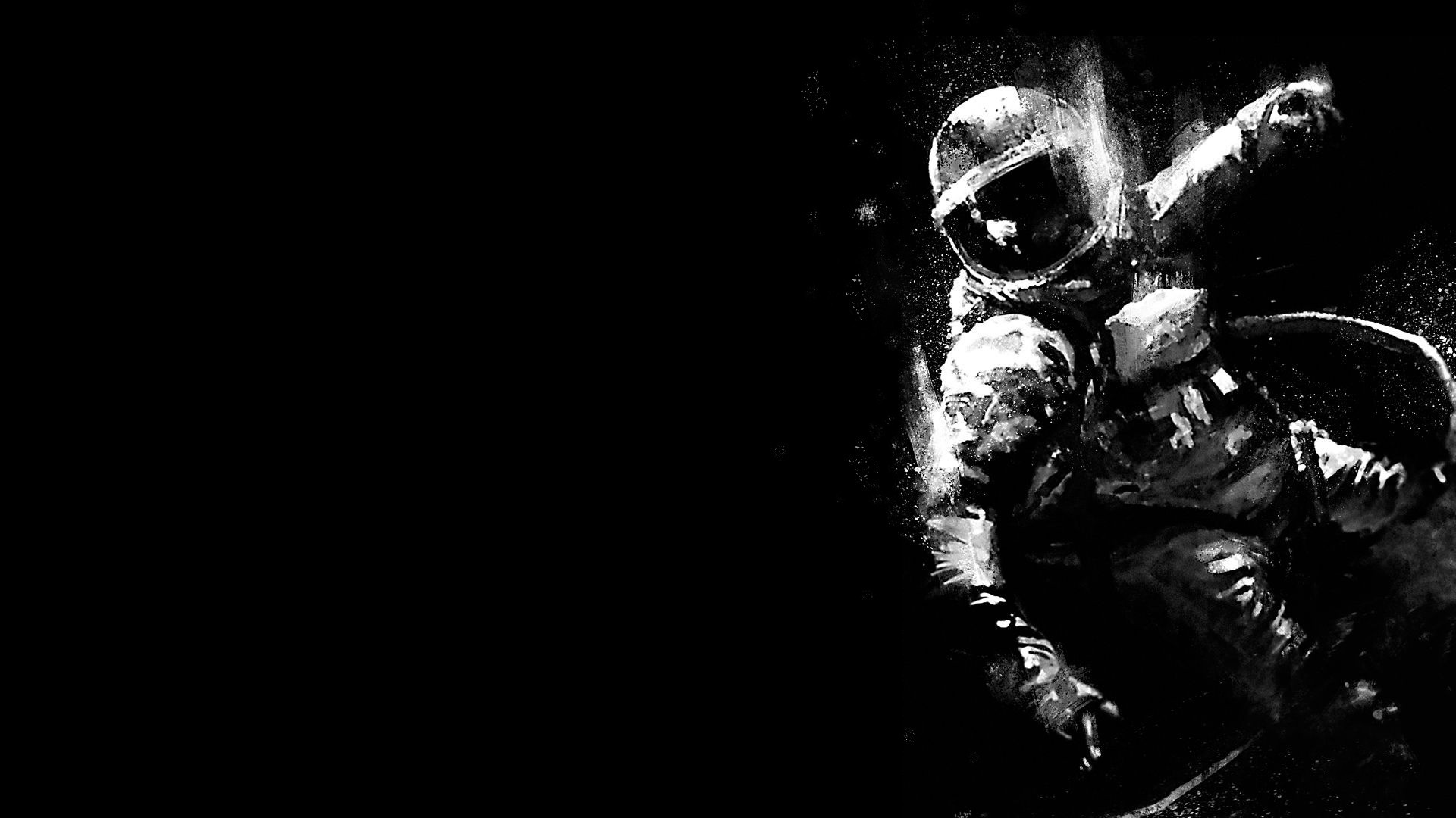 Falling Astronaut Iphone Wallpaper Astronaut Space Monochrome Wallpapers Hd Desktop And