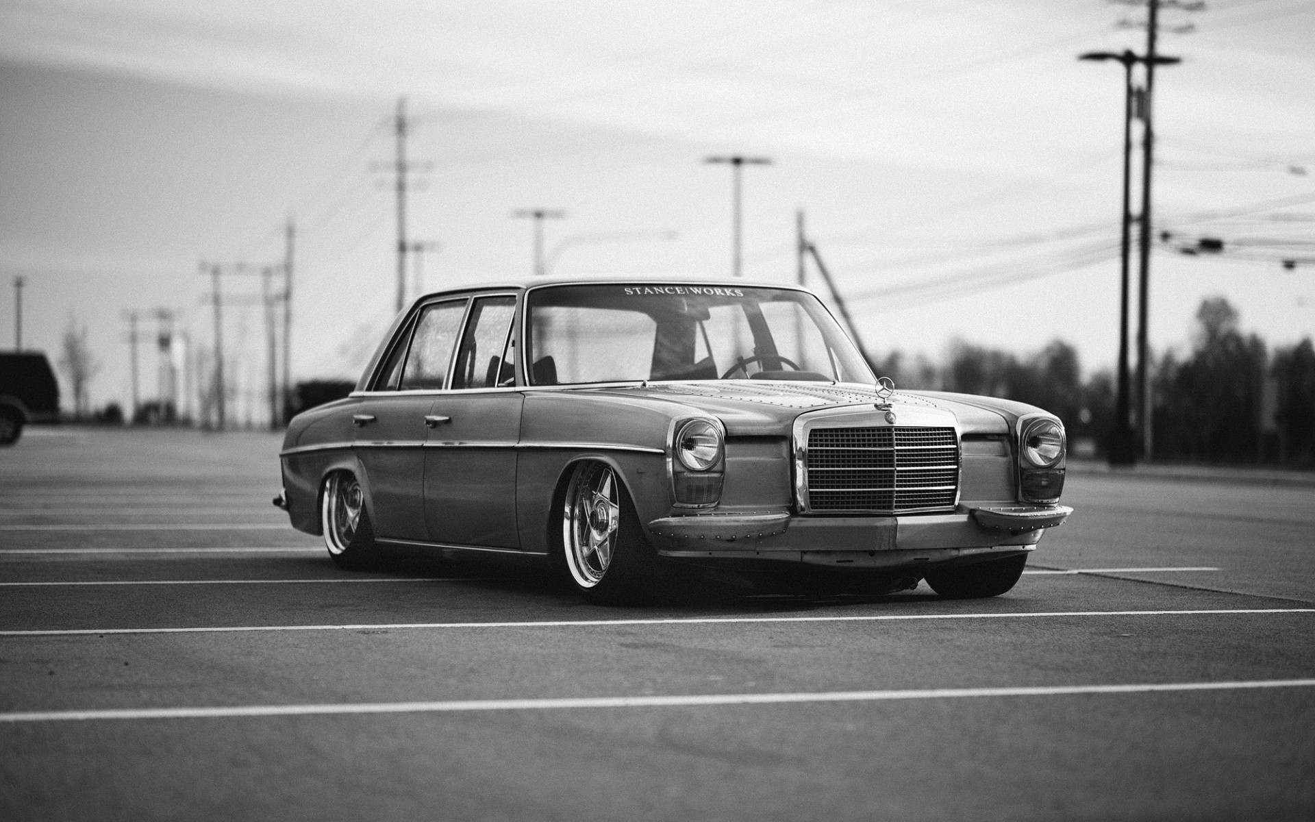 Classic Muscle Car Wallpapers Hd 1680x1050 Mercedes Benz Car Stanceworks Stance Wallpapers Hd