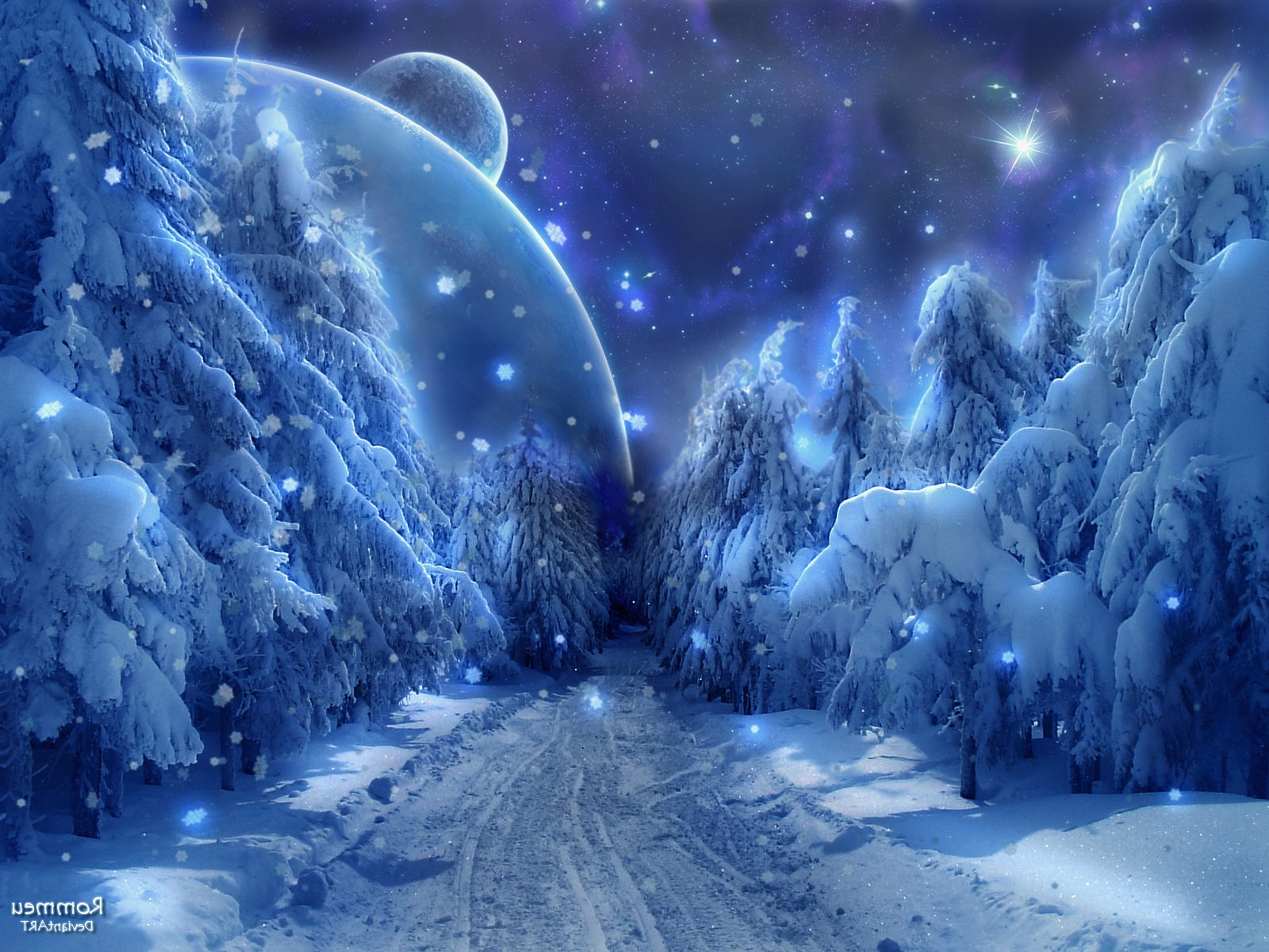 Crazy Girl Wallpaper Download Snow Forest Ice Planet Space Path Dirt Road
