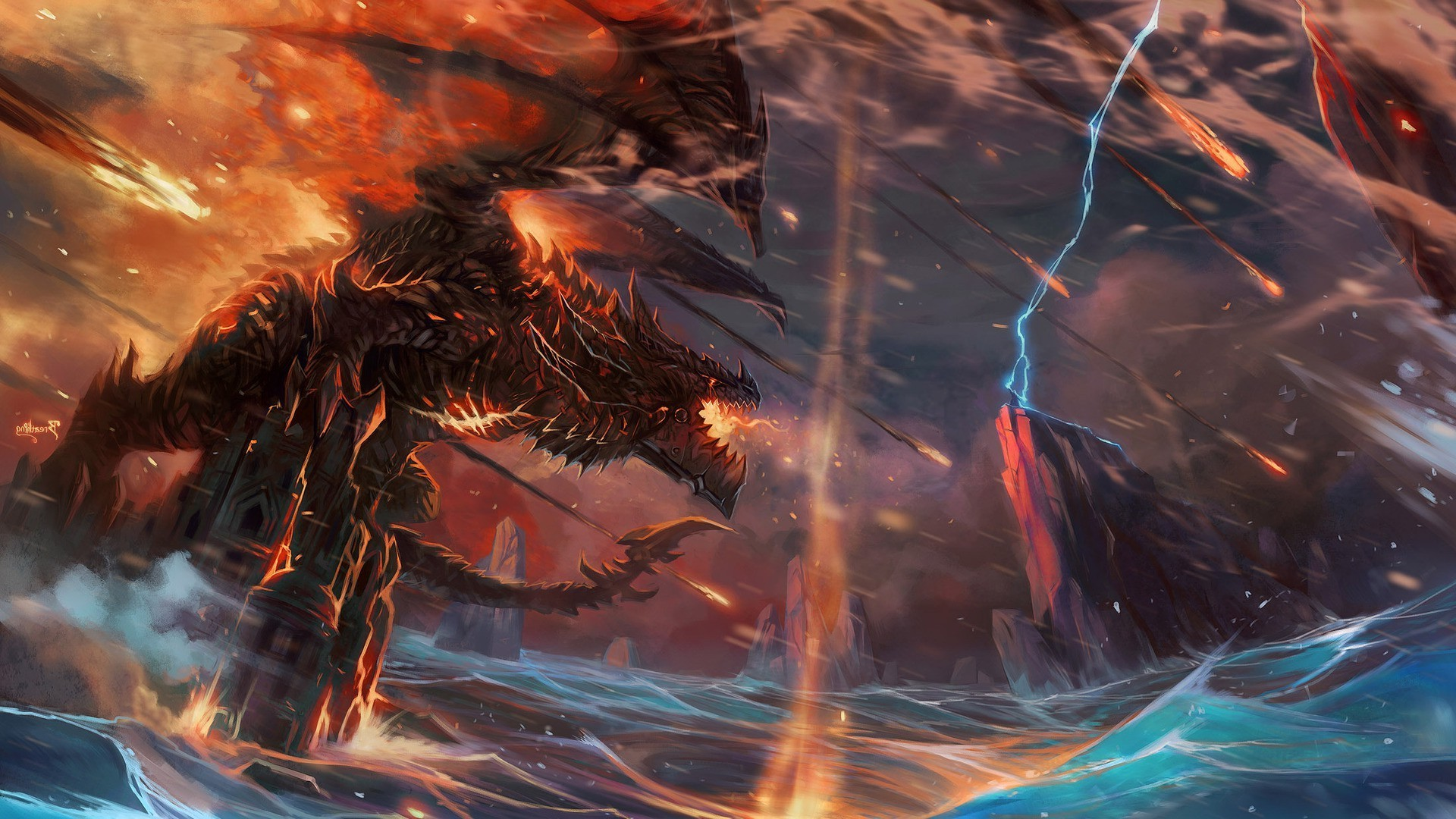 Dragon World Of Warcraft Cataclysm Deathwing Thrall