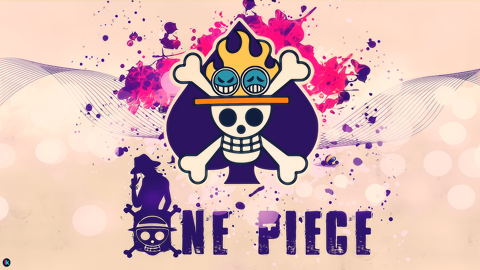 Portgas D Ace Wallpaper 3d One Piece Portgas D Ace Paint Splatter Wallpapers Hd