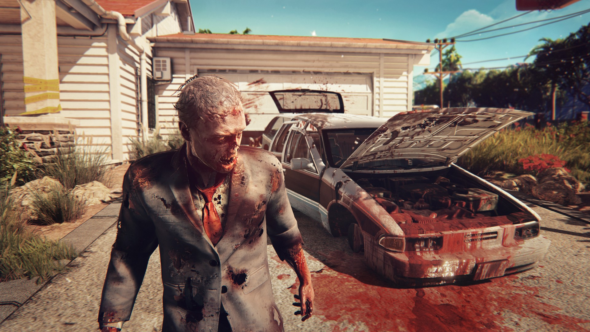 Girl In Blood Wallpaper Dead Island 2 Computer Game Video Games Zombies Blood