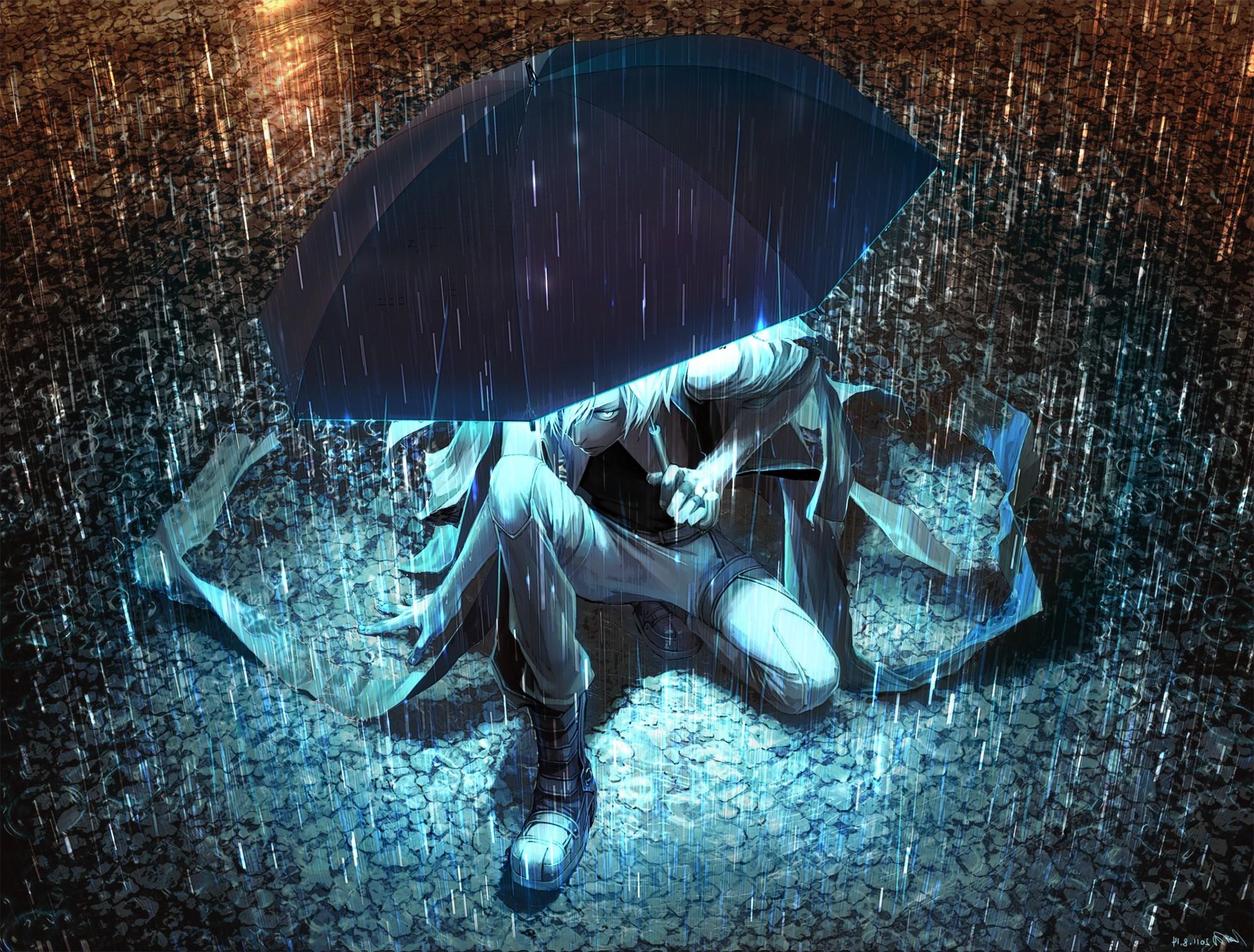 Natsu 3d Wallpapers Umbrella Anime Rain Wallpapers Hd Desktop And Mobile