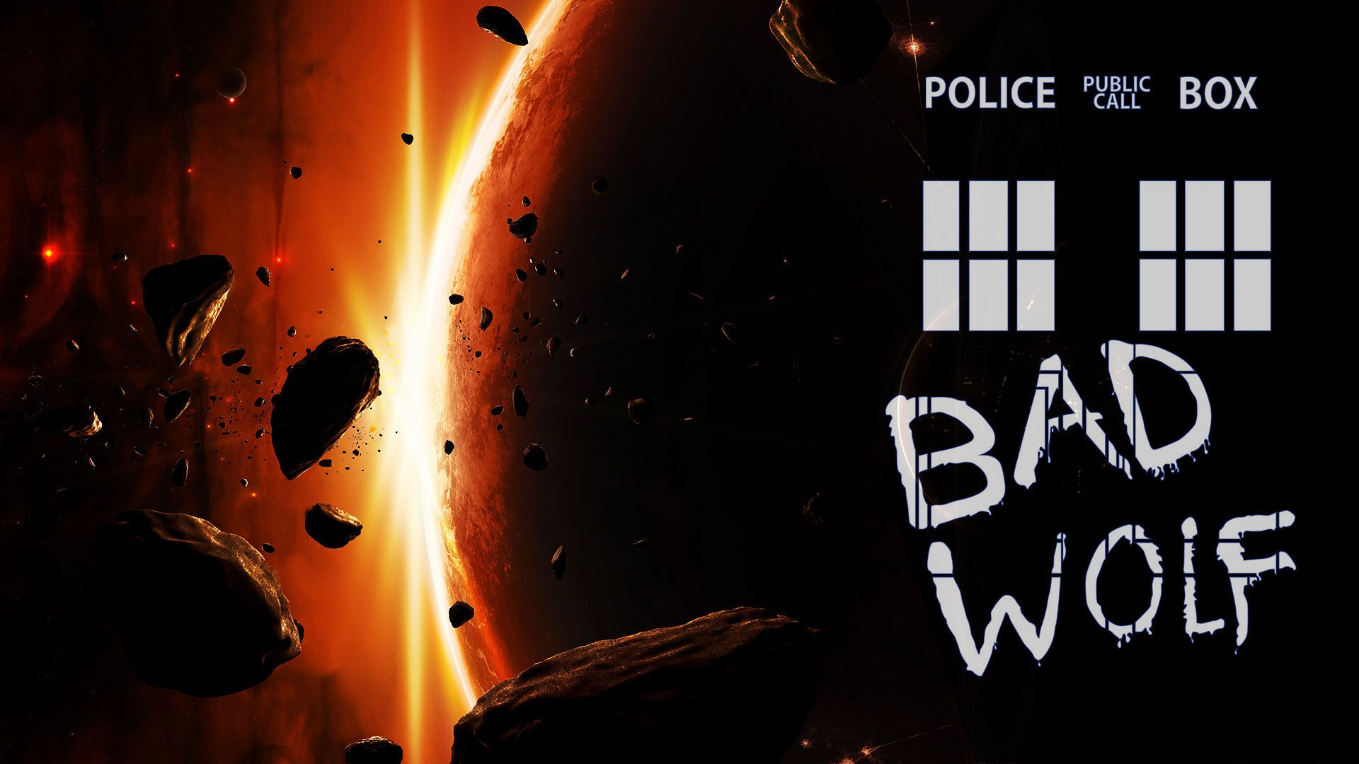3d Asteroid Wallpaper Doctor Who Bad Wolf Tardis Planet Asteroid Wallpapers