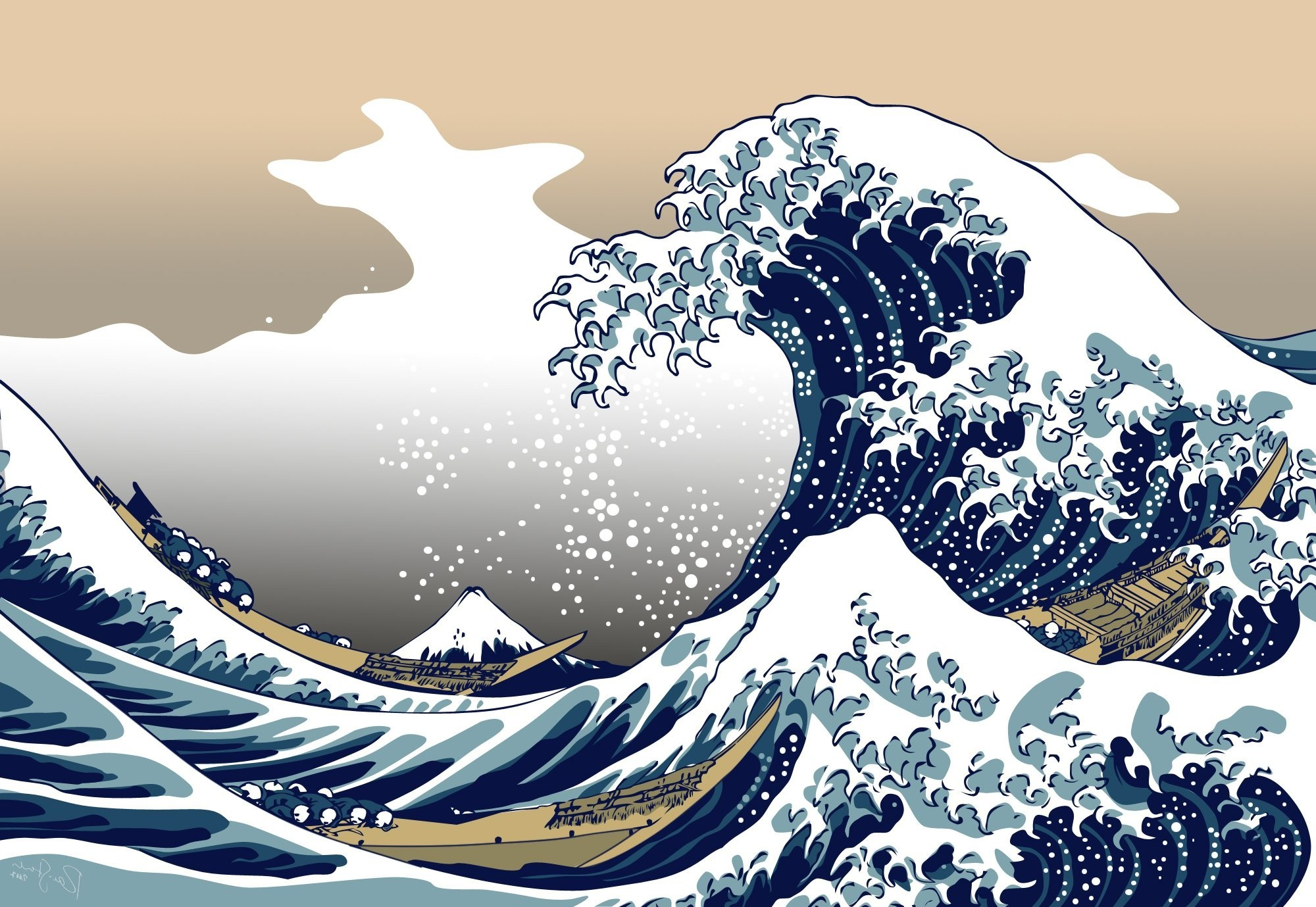 The Great Wave Off Kanagawa Iphone Wallpaper Nature Blue The Great Wave Off Kanagawa Wallpapers Hd