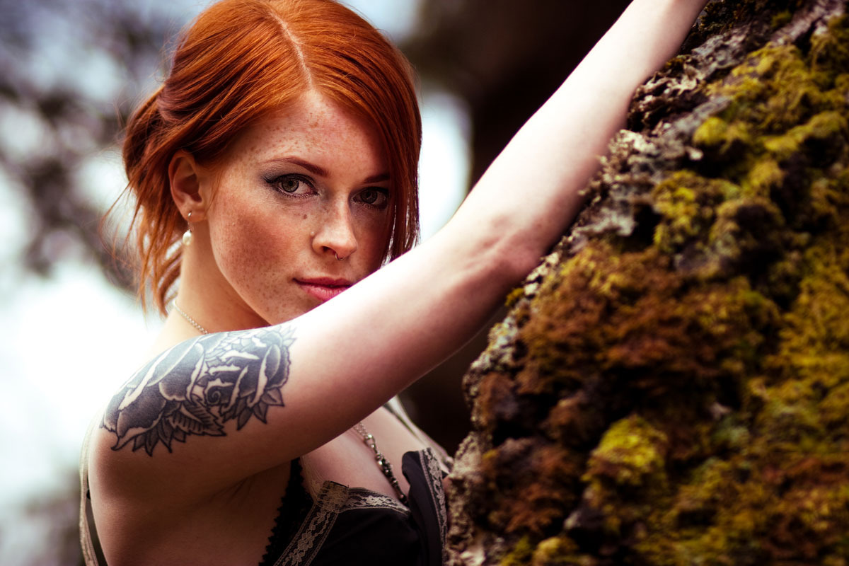 Blue Eyes Cute Wallpaper Redhead Freckles Tattoo Annalee Suicide Wallpapers Hd