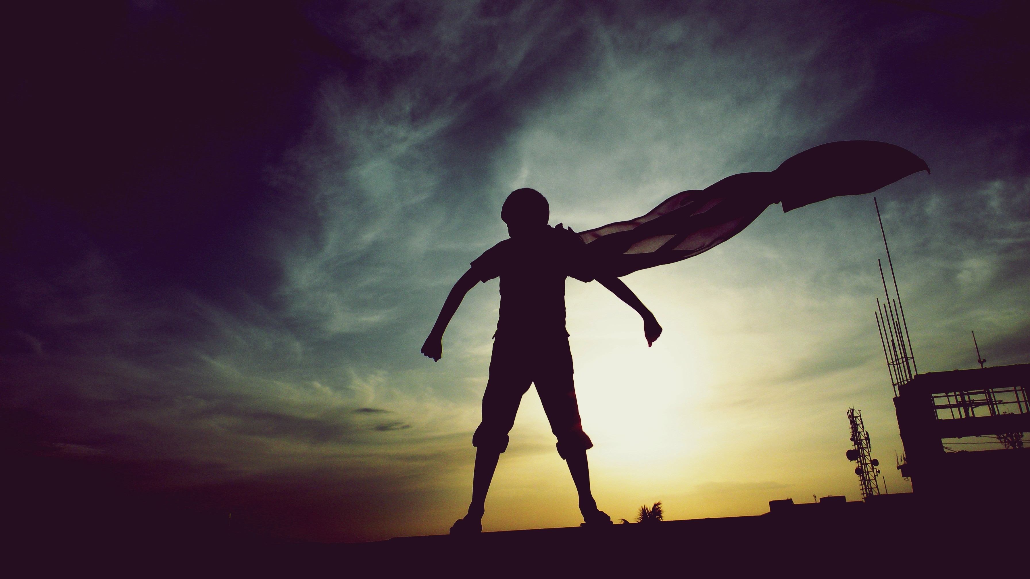 Happy Fall Desktop Wallpaper Silhouette Photography Superman Childhood Dreams 500px