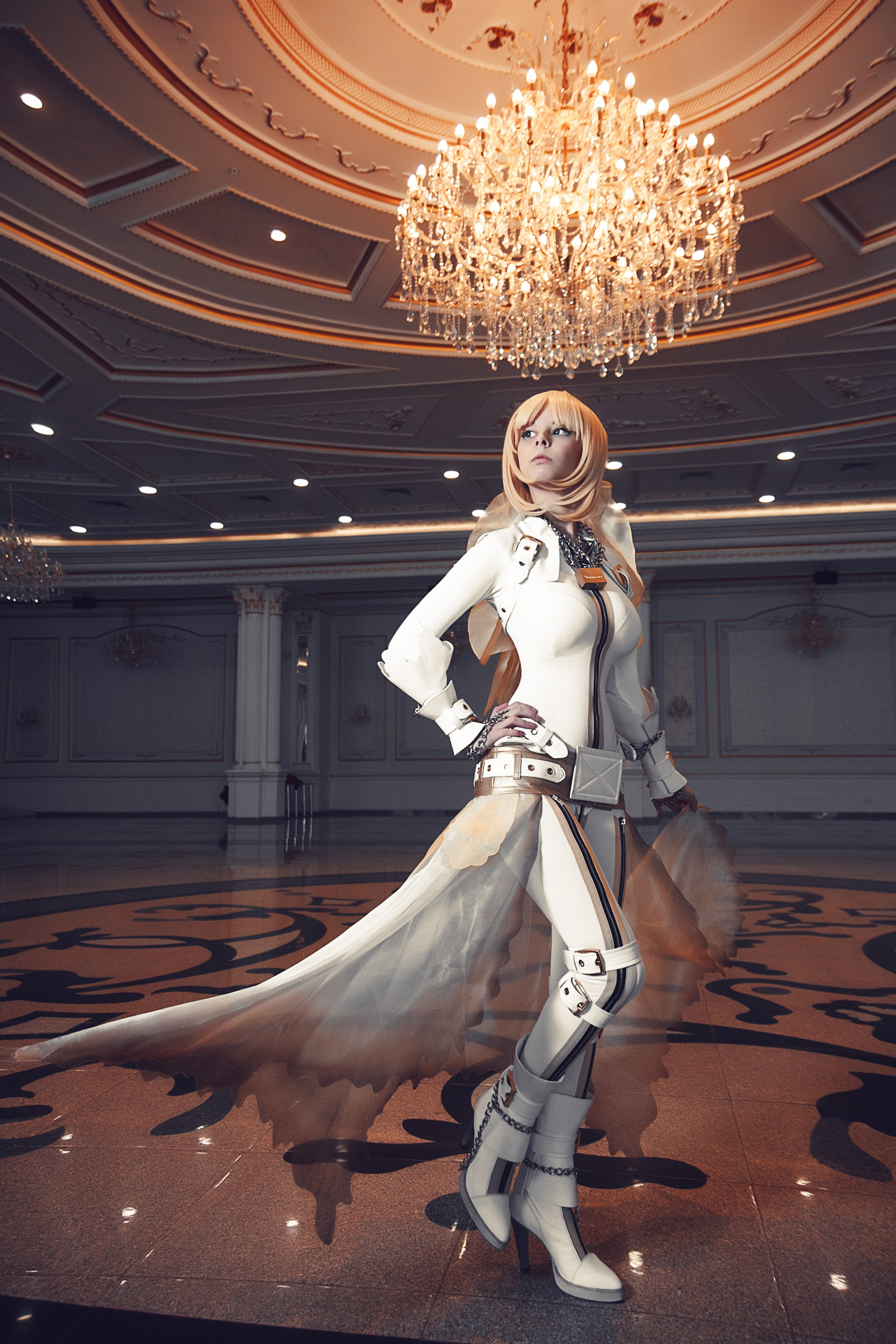 Retro Girl Wallpaper Suits Boots Cosplay Saber Bride Long Hair Blonde