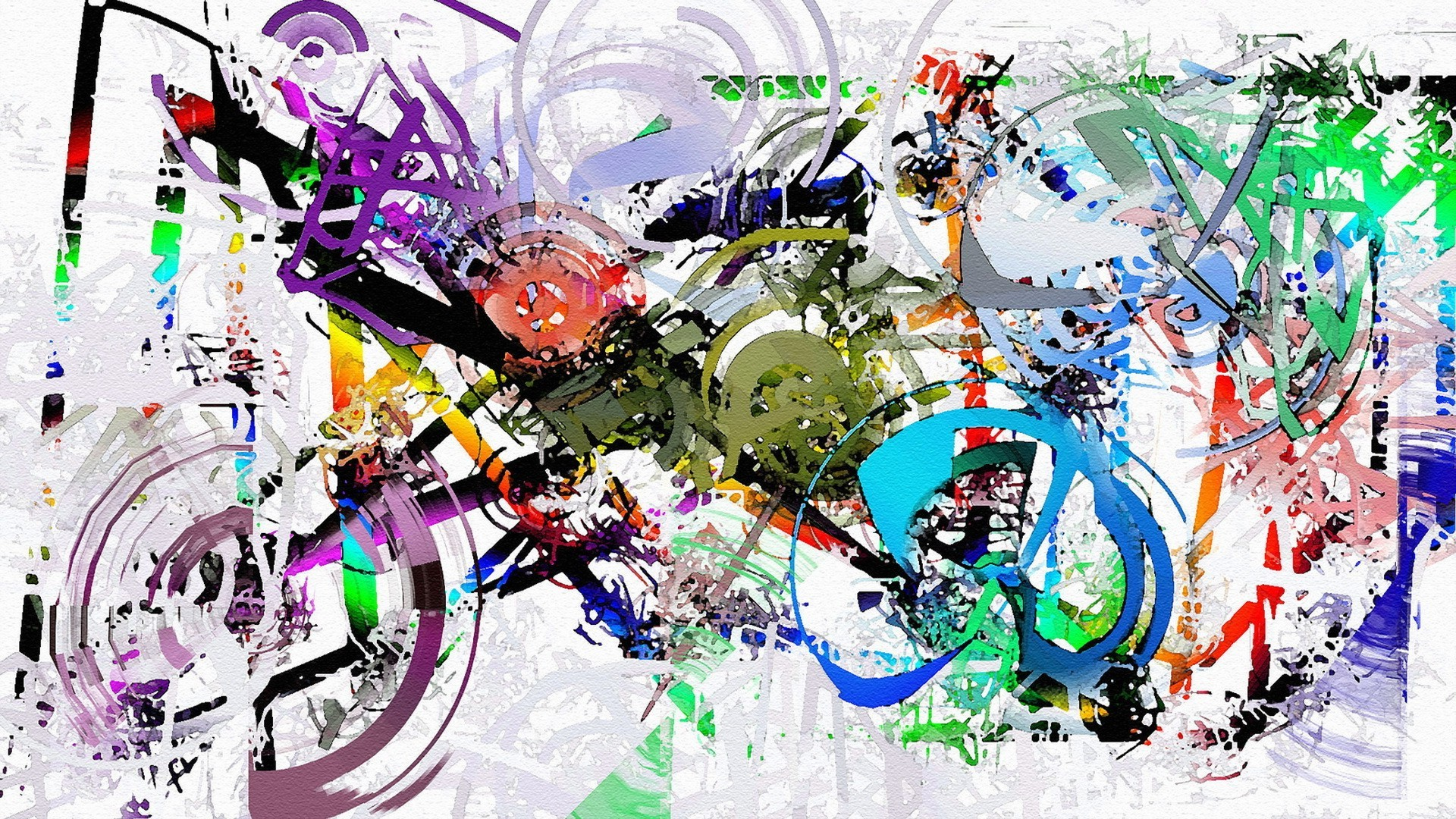 Modern Girl Wallpaper Free Download Painting Artwork Abstract Paint Splatter Colorful