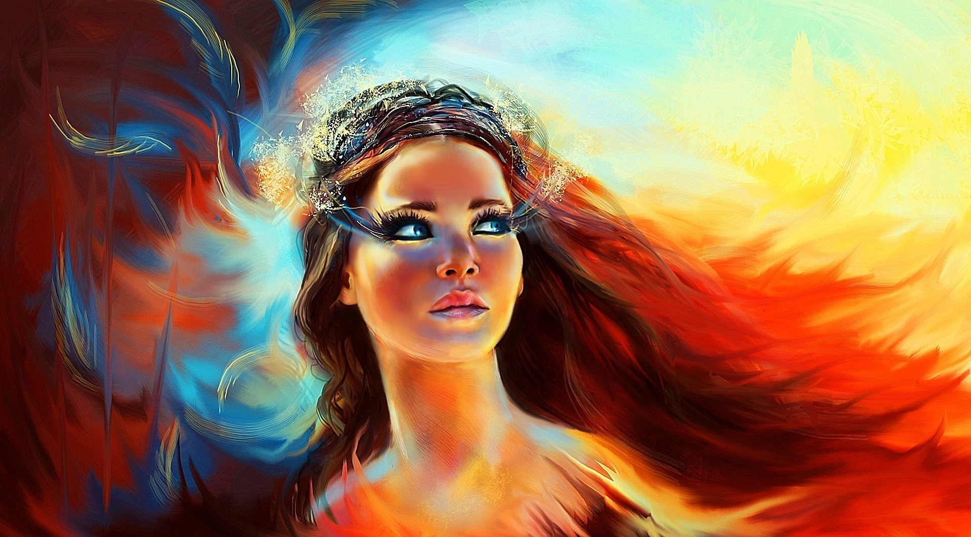 Cute Animated Girl Wallpapers For Mobile Women Artwork Movies Hunger Games The Hunger Games