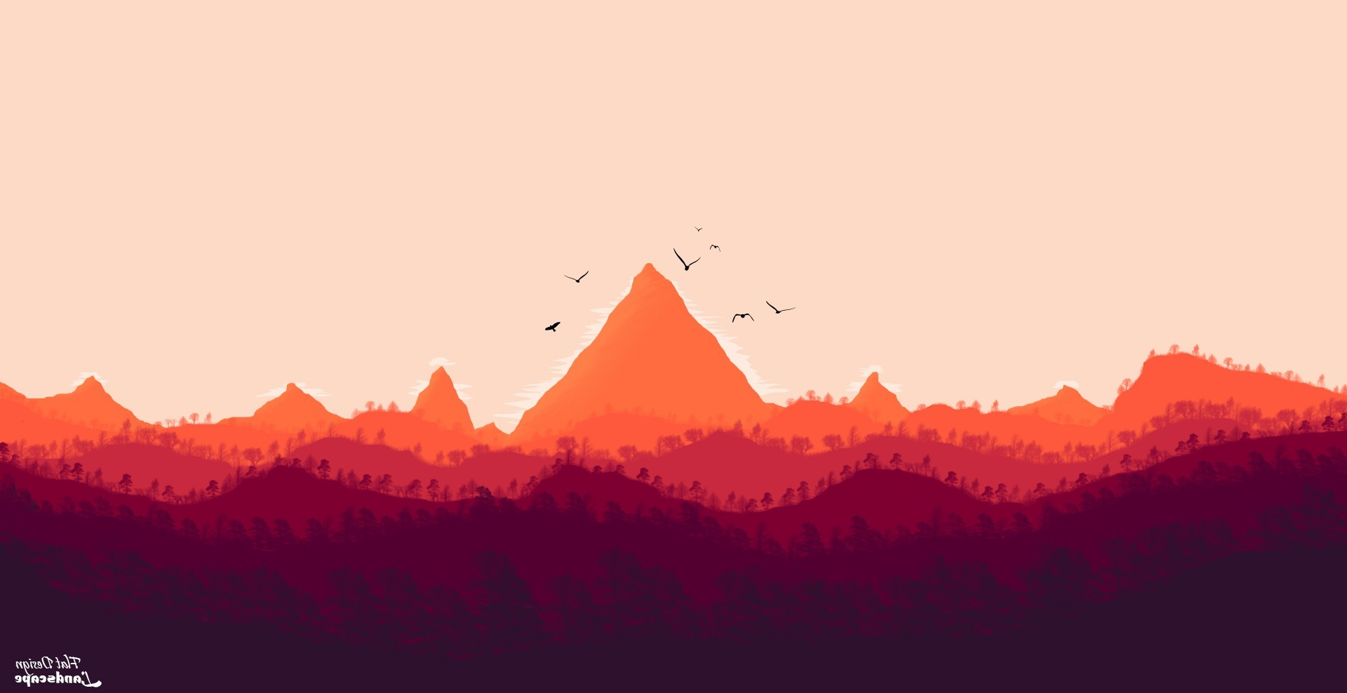 Animated Hd Wallpapers 1080p Free Download Firewatch Digital 2d Digital Art Photoshop Landscape