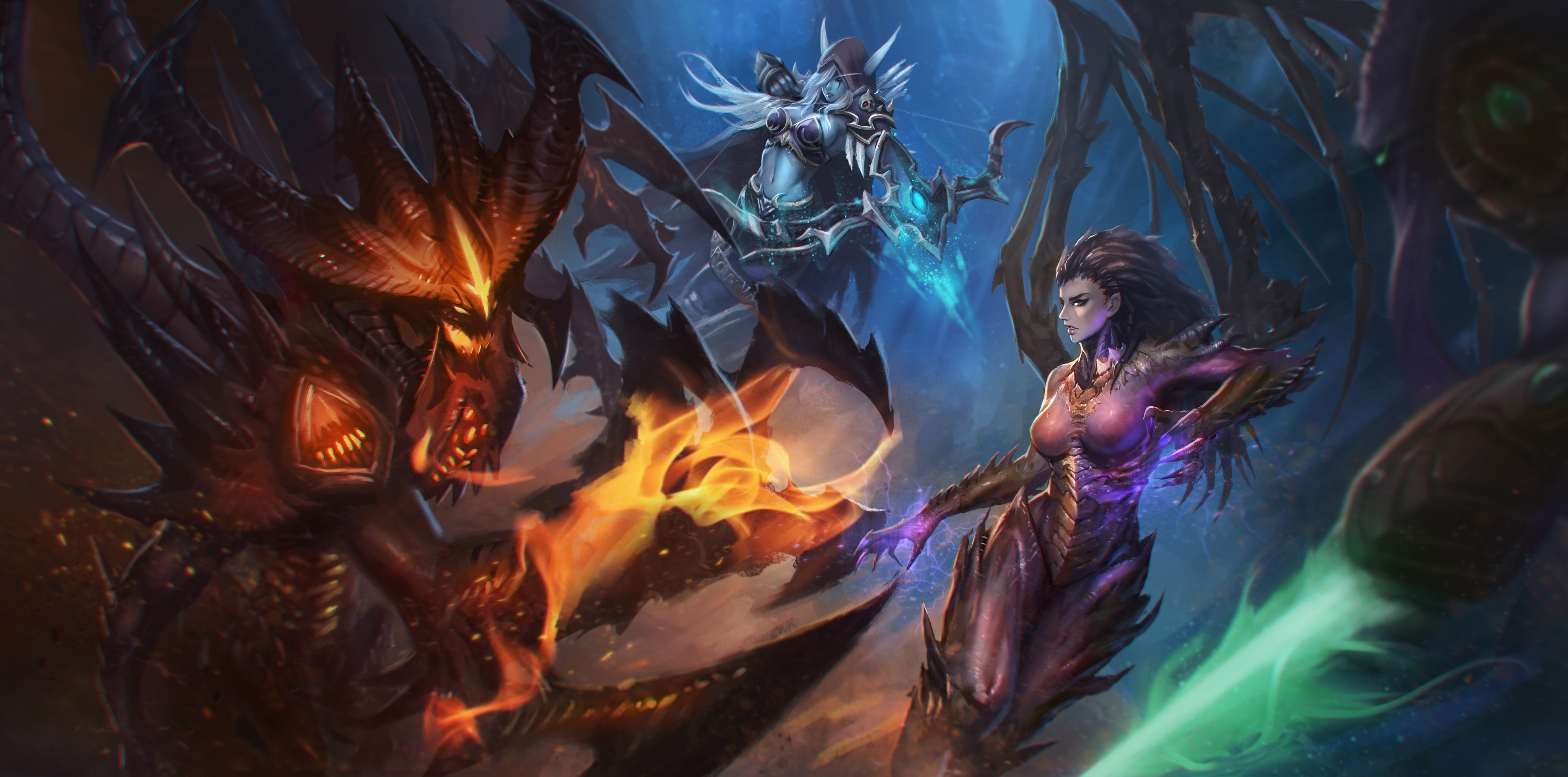 Wow Girls Wallpaper 1920x1080 Heroes Of The Storm Sylvanas Windrunner Contests Sarah